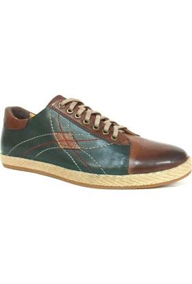Grotto 185 Taba Yeşil Bağcıklı Sneakers Erkek Ayakkabı