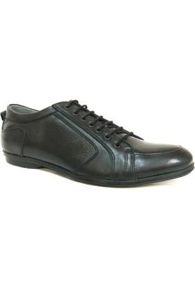 Grotto 8090 Siyah Bağcıklı Casual Erkek Ayakkabı