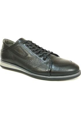 Grotto 21339 Siyah Bağcıklı Casual Erkek Ayakkabı
