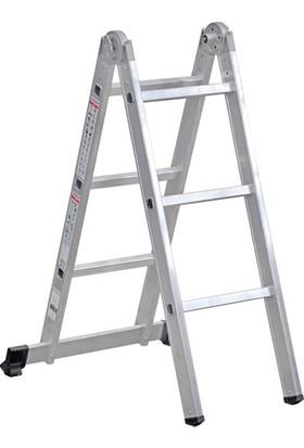 Çağsan 2x3 Basamaklı Katlanır Alüminyum Merdiven