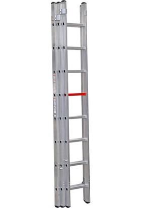 Çağsan 3x8 Basamaklı Üç Parçalı Sürgülü Alüminyum Merdiven