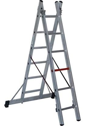 Çağsan 2x8 Basamaklı İki Parçalı Çok Amaçlı Alüminyum Merdiven