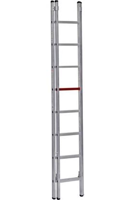 Çağsan 2x8 Basamaklı İki Parçalı Sürgülü Alüminyum Merdiven