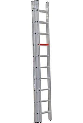 Çağsan 3x10 Basamaklı Üç Parçalı Sürgülü Alüminyum Merdiven