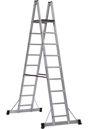 Çağsan 8+1 Basamaklı A Tipi Platformlu Alüminyum Merdiven