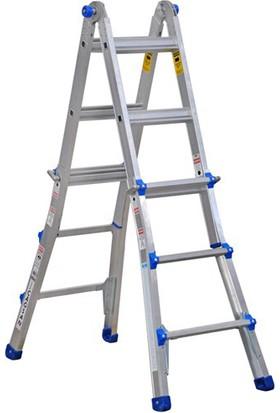 Çağsan 3 Basamaklı Çok Amaçlı Katlanır Alüminyum Merdiven