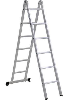 Çağsan 2x6 Basamaklı Katlanır Alüminyum Merdiven