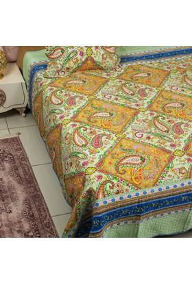 Ev Homeset Yeşil Tek Kişilik Yatak Örtüsü Ylm325