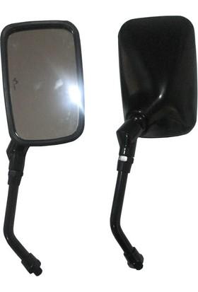 Arch Motosiklet Aynası Takım (Qy177) Arch Siyah 10 Mm Vitesli Cub Düz Diş