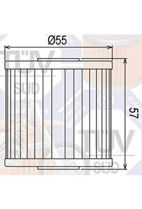Mtx Mtx Yağ Filtresi Mf-123 Kawasakı Kl 250 650 Klx 650
