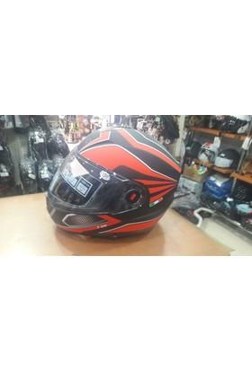 Beta Motosiklet Kaskı Free-M 918 Çene Açılır Vizörlü Siyah / Kırmızı Xl