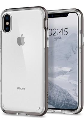 Spigen Apple iPhone X Kılıf Neo Hybrid Crystal Gunmetal - 057CS22172