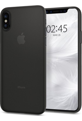 Spigen Apple iPhone X Kılıf Air Skin (0.3 mm) Ultra İnce Black - 057CS22114
