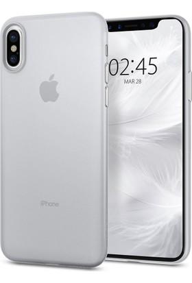 Spigen Apple iPhone X Kılıf Air Skin (0.3 mm) Ultra İnce Soft Clear - 057CS22115