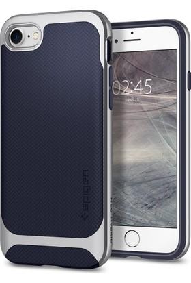 Spigen Apple iPhone 8 - iPhone 7 Kılıf Neo Hybrid Herringbone Satin Silver - 054CS22199