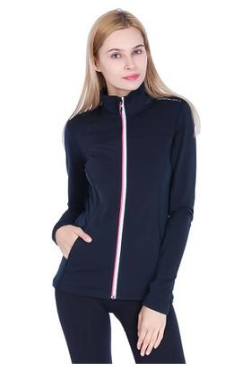 Campagnolo Maria Kadın Fermuarlı Lacivert Sweatshirt