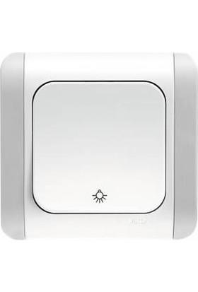 Viko Light Anahtarı Kardelen Serisi Beyaz