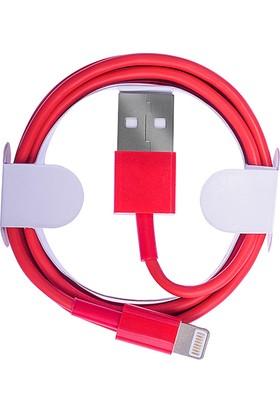 Ally Apple İphone 5S 6S 6S Plus 7 7 Plus Lightning Kaliteli Kırmızı Usb Kablo