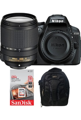 Nikon D5300 + 18-140 Lens + Hafıza Kartı + Eye Sırt Çantası