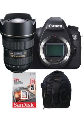 Canon EOS 6D + Tokina 16-28 Lens + Hafıza Kartı + Eye Sırt Çantası