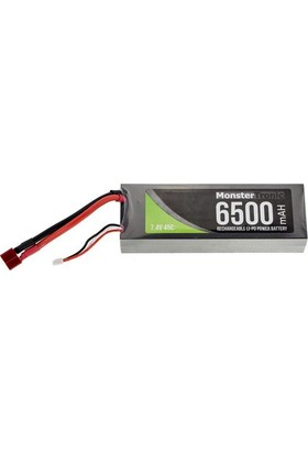 Monstertronıc 6500 Mah 2S 7,4V 45C Tplug Stecker Hardcase Lipo Batarya A 6500