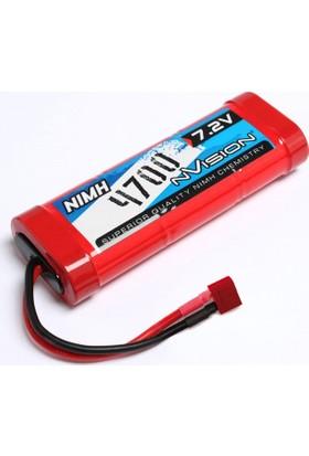 Nvısıon Nımh 4700 Mah 7,2V Stick W/Tamiya Plug 14 Awg Nimh Batarya Nv1003
