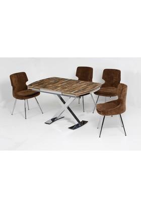 Kutuphome Masa Sandalye Takımı Evonus 001