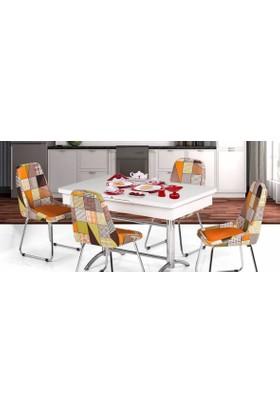 Kutuphome Masa Sandalye Takımı Açılır Masa Snt005