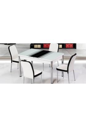 Kutuphome Masa Sandalye Takımı Açılır Masa Snt009