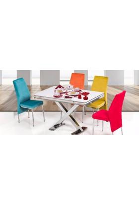 Kutuphome Masa Sandalye Takımı Açılır Masa İcon Renkli