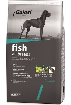 Golosi Dog Fish Balikli Ve Pirinçli Yetişkin Köpek Mamasi 3 Kg