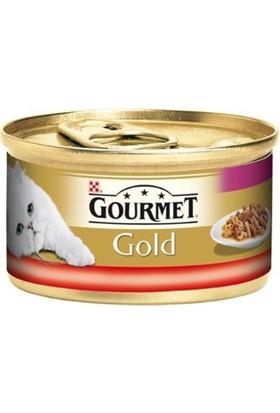 Gourmet Gold Çifte Lezzet Siğir Eti Ve Tavuklu Yetişkin Kedi Konservesi 85 Gr