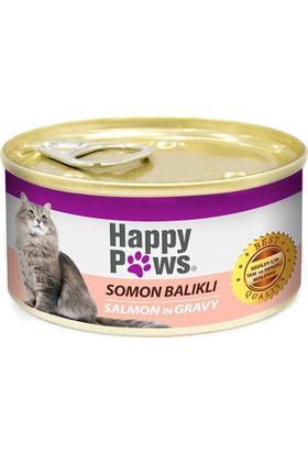 Happy Paws Somon Balıklı ve Soslu Kedi Konservesi 80 gr