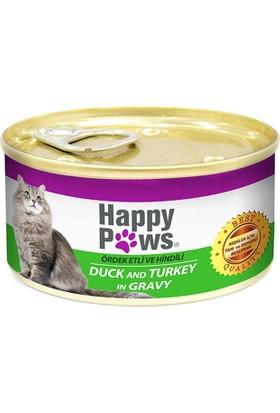 Happy Paws Ördek ve Hindili Kedi Konservesi 80 gr