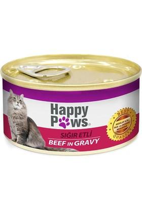 Happy Paws Sığır Etli Soslu Kedi Konservesi 80 gr