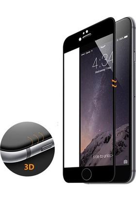 Case 4U İphone 6S 3D Kavisli Temperli Cam Ekran Koruyucu Full Ekran Koruyucu Film Siyah