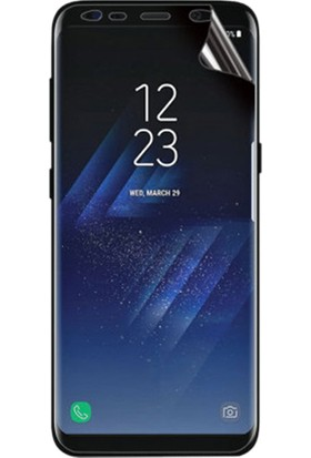 Case 4U Samsung Galaxy S8 Kavisler Dahil Tam Ekran Kaplayıcı Şeffaf Koruyucu Film