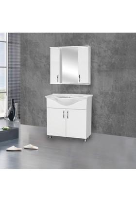 Hepsiburada Home Saydam Klasik 80 cm Mdf Banyo Dolabı Beyaz
