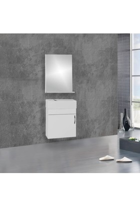 Hepsiburada Home Saydam Ebeveyn Slim 50 cm Mdf Banyo Dolabı Beyaz