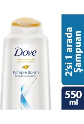 Dove Şampuan 2 Si 1 Arada Komple Bakım Normal Saçlar İçin 550 ml