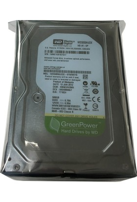 Wd Western Digital 500 Gb 7200 Rpm Wd5000Azrx 64 Mb Sata3 3,5 Harddisk