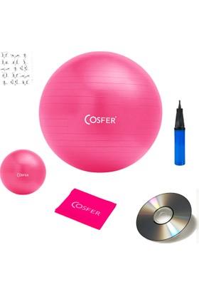 Cosfer 6 Lı Pilates Seti Plates Set Topu Lastiği Bandı Pompa