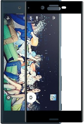 Microcase Sony Xperia Xz Premium 3D Curve Fit Eğimli Tempered Cam