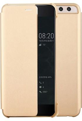 Microcase Huawei P10 Plus Uyku Modlu Akıllı Deri Kılıf