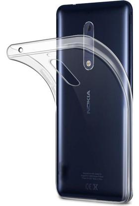 Microcase Nokia 6 Ultra 0.2 Mm İnce Silikon Kılıf + Tempered Glass Koruma
