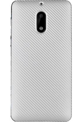 Microcase Nokia 6 Carbon Fiber Silikon Tpu Kılıf + Tempered Cam Koruma