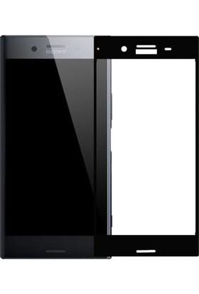 Microcase Sony Xperia Xz Çerçeveli Tempered Glass Cam Koruma