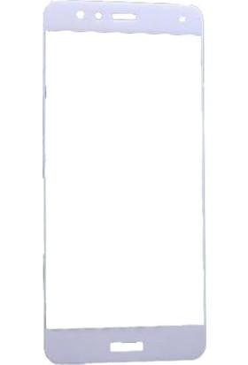 Microcase Huawei P10 Lite Çerçeveli Tempered Glass Cam Koruma
