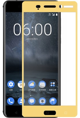 Case Man Nokia 6 3D Tam Kaplayan Ekran Koruma Seti + Cep Bakım Kiti + Kalem