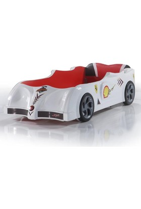 Otomobby Arabalı Yatak, Arabalı Karyolu F1 Beyaz